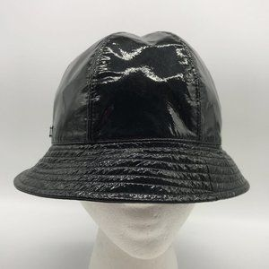 Chanel Black Patent Leather Bucket Hat 57